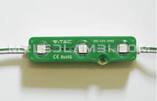 LED МОДУЛ 3LED SMD5050 ЗЕЛЕН IP67