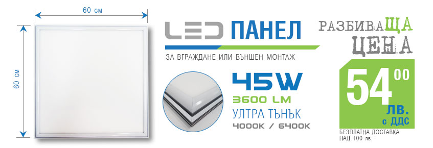 led панел 60х60см