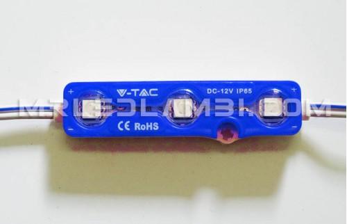 LED МОДУЛ 3LED SMD5050 СИН IP67