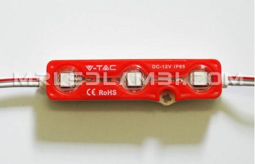 LED МОДУЛ 3LED SMD5050 ЧЕРВЕН IP67