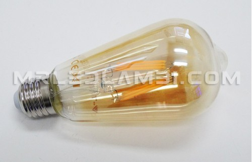4W LED КРУШКА E27 ST64 FILAMENT