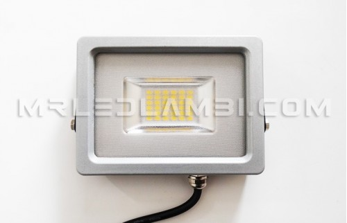 led прожектор 20w сиво тяло