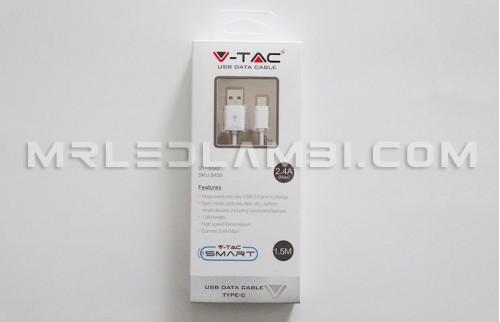 USB кабел 1.5m бял
